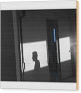 Self-portrait Shadow 3 Wood Print
