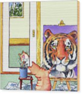 Self Portrait, Tiger Wood Print