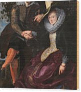 Self Portrait With Isabella Brandt, His First Wife, In The Honey Wood Print