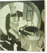 Self Portrait With Still Life Wood Print