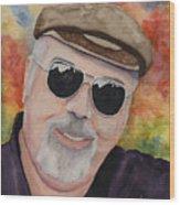 Self Portrait With Sunglasses Wood Print