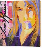 Self Portraiture Digital Art Photography Wood Print