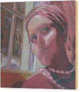 Selfportrait V Wood Print