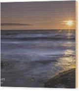 Selkirk Shores Sunset Wood Print