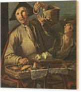 Seller Of Sweets And Donuts Wood Print