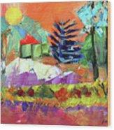Sellersville Sunset Wood Print