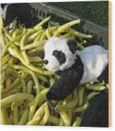Selling Beans Wood Print