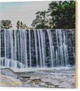 Sells Mill Waterfall Wood Print