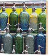 Seltzer Bottles Wood Print