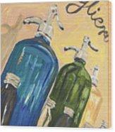 Seltzer Bottles Wood Print