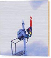 Semaphore Signal Wood Print