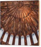 Semi-circle Of Windows Wood Print