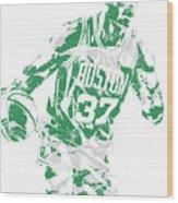 Semi Ojeleye Boston Celtics Pixel Art 2 Wood Print