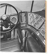 Semi-trailer Cab Interior Wood Print