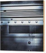 Semi Truck Monocromatico Wood Print