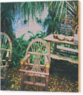 Seminole Indian Made Outdoor Furniture Wood Print