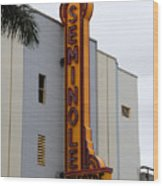 Seminole Theatre 1940 Wood Print