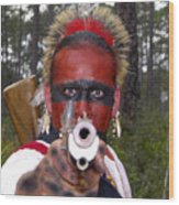 Seminole Warrior Wood Print