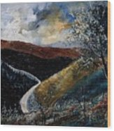 Semois Valley Wood Print