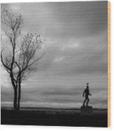 Senator Chafee And The Tree Wood Print