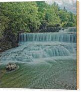 Seneca Mills Waterfall Wood Print