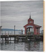Seneca Lake Pier Wood Print