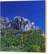 Seneca Rocks National Recreational Area Wood Print by Thomas R Fletcher