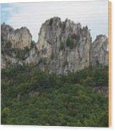 Seneca Rocks Wv Wood Print