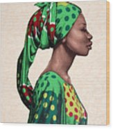 Senegalese Woman Wood Print