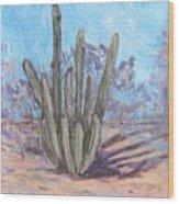 Senita Cactus Wood Print