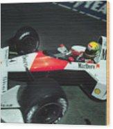 Senna Into 9 Wood Print