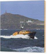 Sennen Cove Lifeboat Wood Print