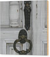 Senor Cuellos' Door Wood Print