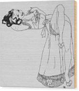 Senorita Rosa Wood Print