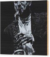 Sensational Sax Wood Print
