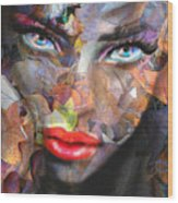 Sensual Eyes Autumn Wood Print