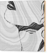 Sensual Portrait Art - Marbled Seduction - Sharon Cummings Wood Print