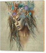 Sensual Siren Wood Print