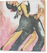 Sensual Tango Wood Print