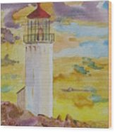Sentinel Lighthouse Wood Print