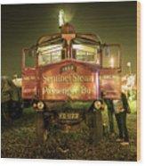 Sentinel Steam Bus By Night  Wood Print
