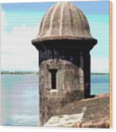 Sentry Box In El Morro Wood Print