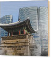 Seoul, Old And New Wood Print