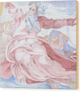 Separation Of The Planets Sistine Chapel Michelangelo Wood Print