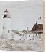 Sepia Afternoon Wood Print by Monte Toon