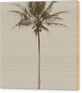 Sepia Palm I Wood Print
