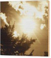 Sepia Sky Wood Print