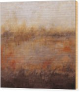 Sepia Wetlands Wood Print