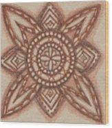 Sepia Zen 2 Wood Print