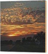 Sept Sunset Wood Print